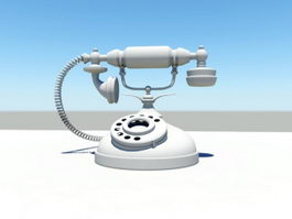 Vintage Rotary Telephone 3d preview