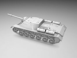 SU-152 Self-propelled Heavy Howitzer 3d model
