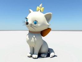 Cute Cartoon Cat 3d preview