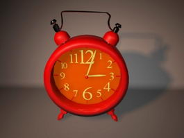 Red Alarm Clock 3d model