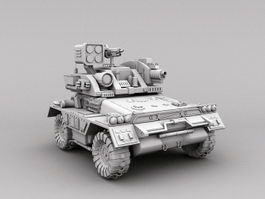 Military Unmanned Ground Vehicle 3d model