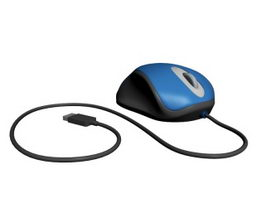 Blue Computer Mouse 3d model