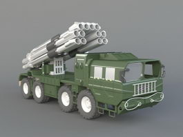 Military Missile Truck 3d model