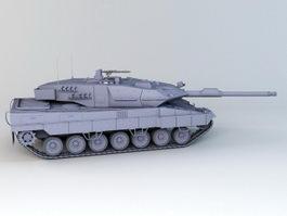German Leopard 2A6 Tank 3d model