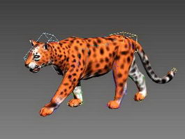 Animated Golden Leopard 3d model