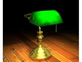 Vintage Desk Lamp 3d model