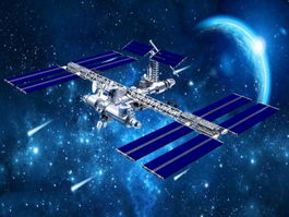 Space Station 3d preview