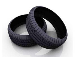 Motorcycle Tyre 3d model
