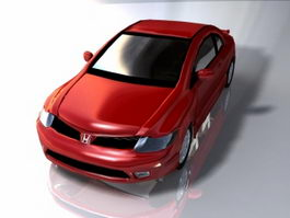 Honda Coupe Car 3d model