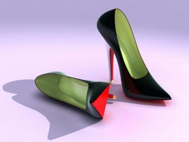 High-heeled Shoes 3d model