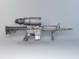 M4A1 with AN/PVS-4 3d model