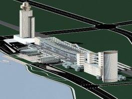 Complex Office Building 3d model