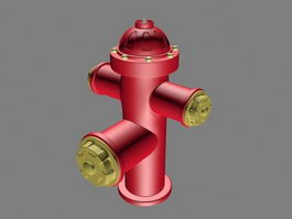 Red Fire Hydrant 3d model