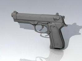 Pistol Weapon 3d preview