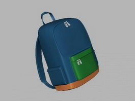 School Bag Satchel 3d model