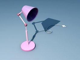 Pink Desk Lamp 3d model