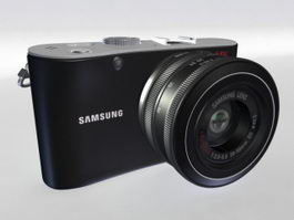 Samsung NX100 Digital Camera 3d model