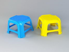 Plastic Stool 3d model