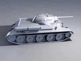 T-34/76 Tank 3d model