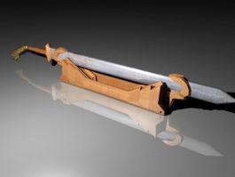Rust Sword 3d model