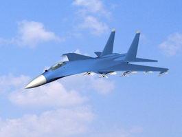 Sukhoi Su-27 Fighter 3d model