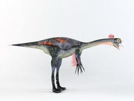 Gigantoraptor Dinosaur Rig 3d model