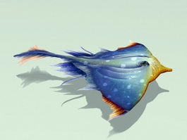 Manta Ray Rigged and Animated 3d model