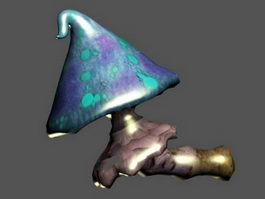 Blue Fantasy Mushroom 3d model