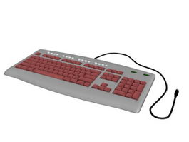 Computer Keyboard 3d preview