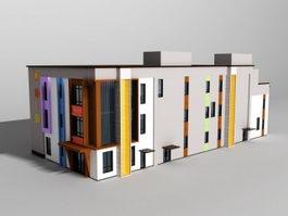 Classroom Building 3d model