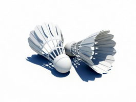 Feather Shuttlecock 3d preview