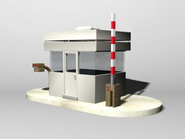 Security Guard Booth 3d model