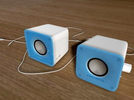 Mini Computer Speakers 3d model