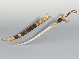 Middle Eastern Sword 3d model
