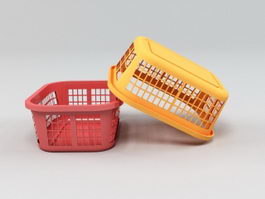 Plastic Basket 3d preview
