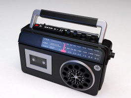 Radio Cassette Player Recorder 3d model