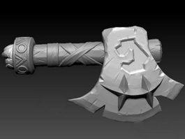 Anime Battle Axe 3d model