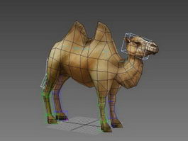 Animated Bactrian Camel Rig 3d model