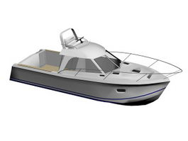 Small Yacht Boat 3d model