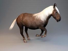 Animated Shetland Pony 3d model