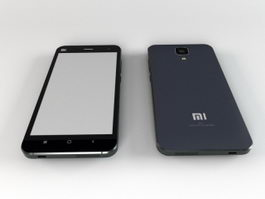 Xiaomi Mi-4 Smartphone 3d model