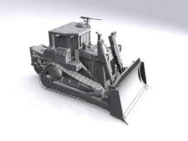 Military Bulldozer 3d preview