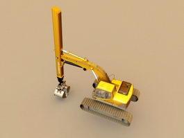 Deep Excavator 3d model