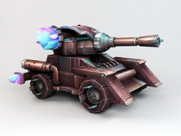 Animated Anime Tank Rig 3d model