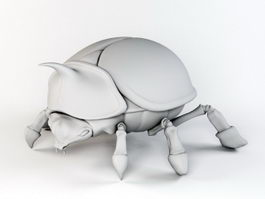 Asiatic Rhinoceros Beetle 3d model