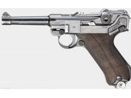 German Luger Pistol 3d model