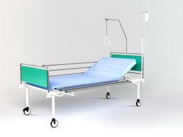 Hospital Sickbed 3d model