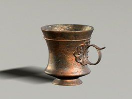 Antique Brass Cup 3d model