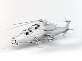 Army Attack Helicopter 3d model