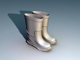 Rain Boots 3d model